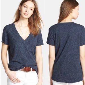 Madewell v neck T-shirt with pocket